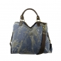 Mobile Preview: ITAL. DAMEN SCHULTERTASCHE SHOPPER IN CANVAS UND LEDER MIT FARBE SPLASH SHCV2629
