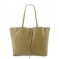 Preview: Damen Schultertasche Shopper in Genarbte Rindleder SHG225