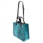 Preview: Damen Handtasche aus Rindleder in schlangenprint SHW1516