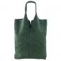 Mobile Preview: Italienische Damen Schultertasche Shopper in Wildleder SHW1602