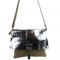 Mobile Preview: Damen Schultertasche in Wildleder und  Metallic Leder SHWM1515