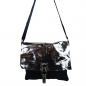 Preview: Damen Schultertasche in Wildleder und  Metallic Leder SHWM1515